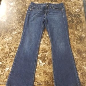 White House Black Market Blanc Boot Cut Jean's 6R